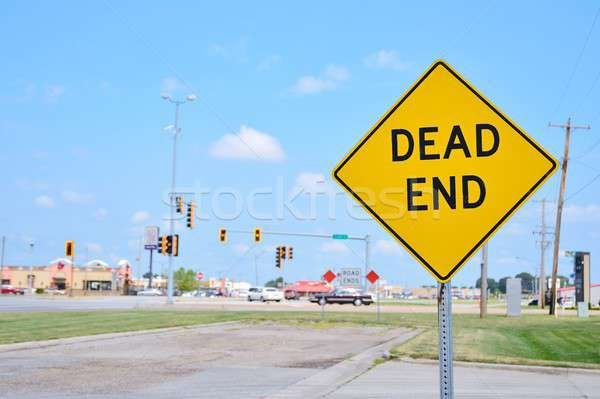 Stock photo: Dead End sign on the city.