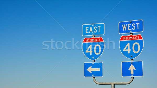 Route 66 verkeersborden Texas teken verkeer amerika Stockfoto © asturianu