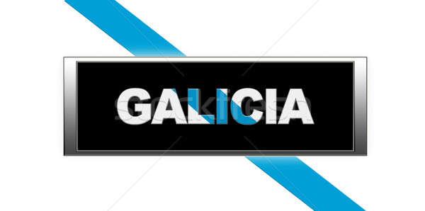 Galicië verlicht teken witte gemeenschap kleur Stockfoto © asturianu