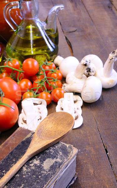 Cookbook and vegetables Stock photo © asturianu
