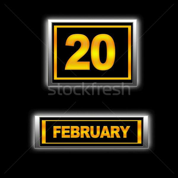 February 20. Stock photo © asturianu