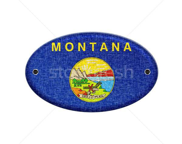 Montana illustration design signe pays Photo stock © asturianu