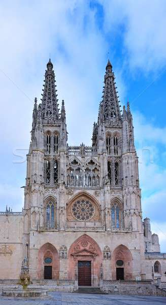 Cathédrale jour lumière Espagne vue ciel Photo stock © asturianu