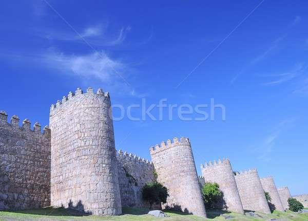 Walls of Avila, Spain. Stock photo © asturianu
