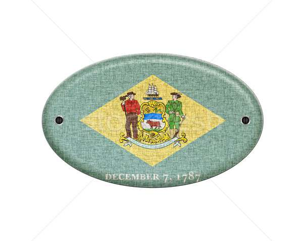 Wooden sign of Delaware. Stock photo © asturianu