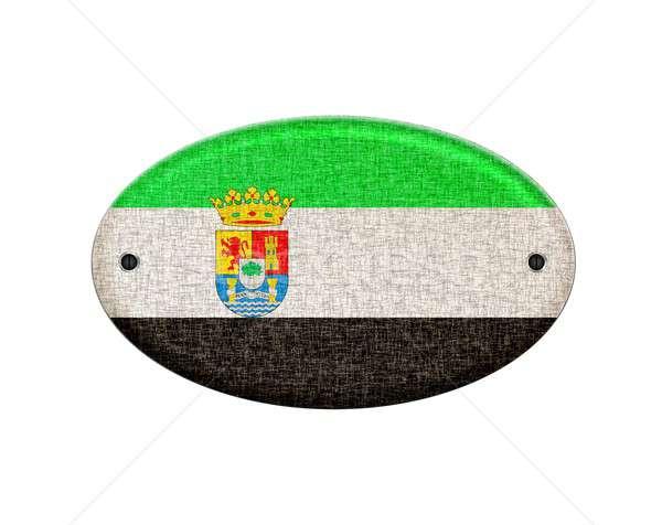 Wooden Extremadura flag. Stock photo © asturianu
