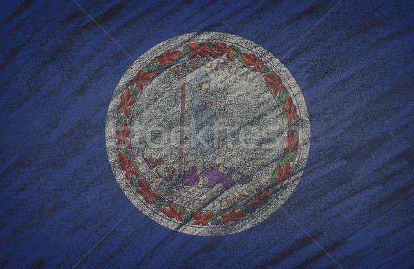 Виргиния флаг окрашенный мелом доске Сток-фото © asturianu