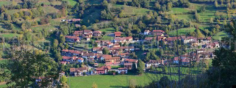 The village of Orle in Asturias. Stock photo © asturianu