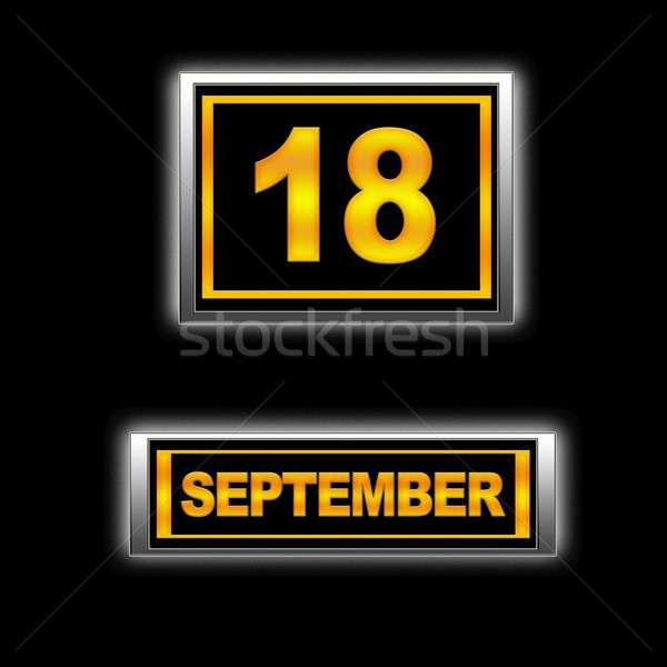 18 иллюстрация календаря образование черный новых Сток-фото © asturianu