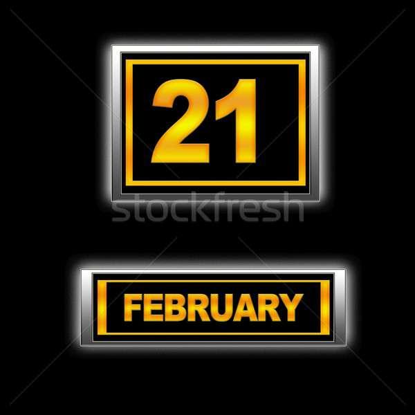 иллюстрация календаря образование черный повестки дата Сток-фото © asturianu