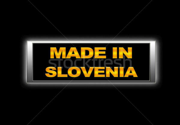 Slovenia segno design spazio fabbrica Foto d'archivio © asturianu