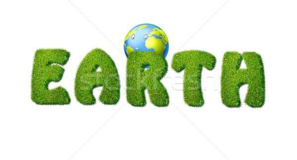 земле трава иллюстрация белый мира Мир Сток-фото © asturianu