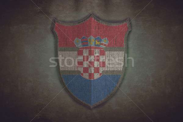 Shield with Croatia flag. Stock photo © asturianu