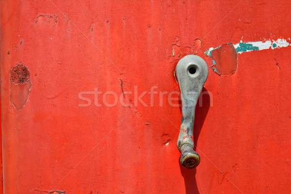 Részlet öreg rozsdás benzinkút pumpa retro klasszikus Stock fotó © asturianu