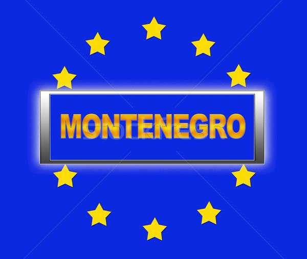 Черногория слово флаг Европа знак синий Сток-фото © asturianu