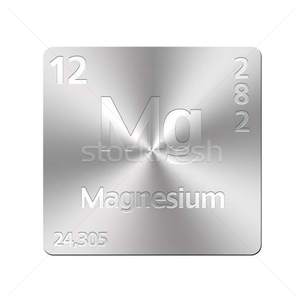Foto stock: Magnésio · isolado · metal · botão · educação