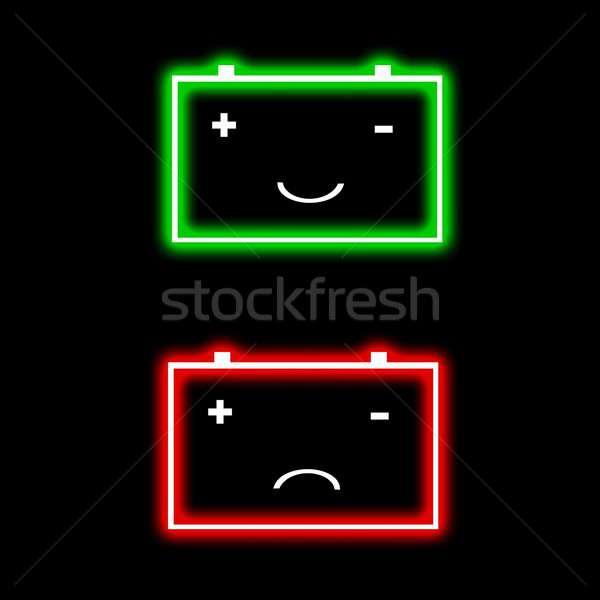 Bateria ilustração completo vazio preto projeto Foto stock © asturianu