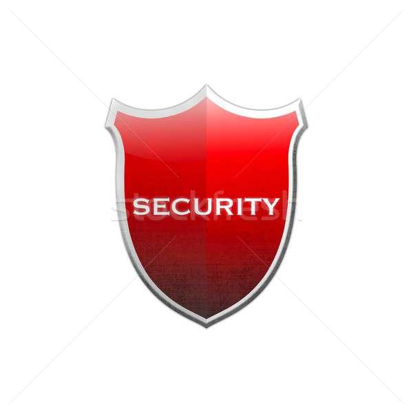 безопасности щит иллюстрация белый дизайна металл Сток-фото © asturianu