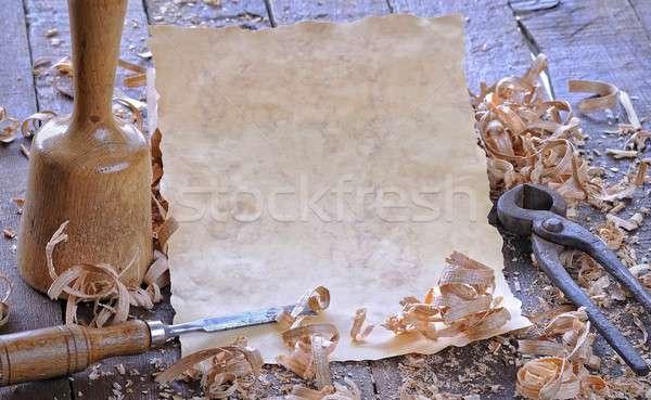 Carpenter tools with blank. Stock photo © asturianu