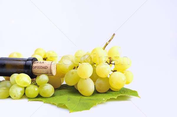 Beyaz şarap üzüm şarap içecekler tarım bağ Stok fotoğraf © asturianu