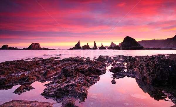 Sunrise on the Bay of Biscay. Stock photo © asturianu