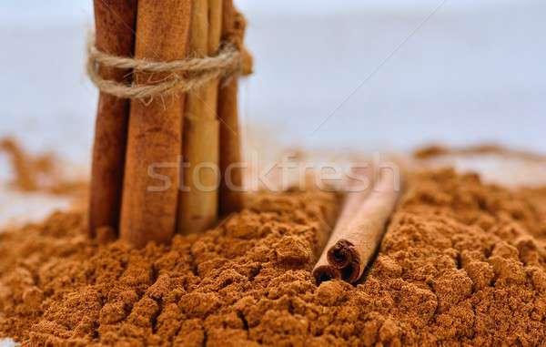 Cinnamon stick in powder Stock photo © asturianu