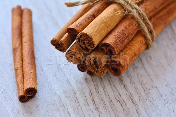 корицей веревку таблице продовольствие фон Сток-фото © asturianu