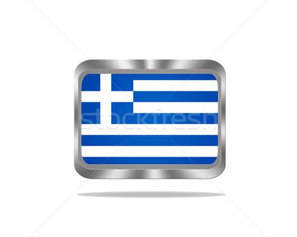 Metal Greece flag. Stock photo © asturianu