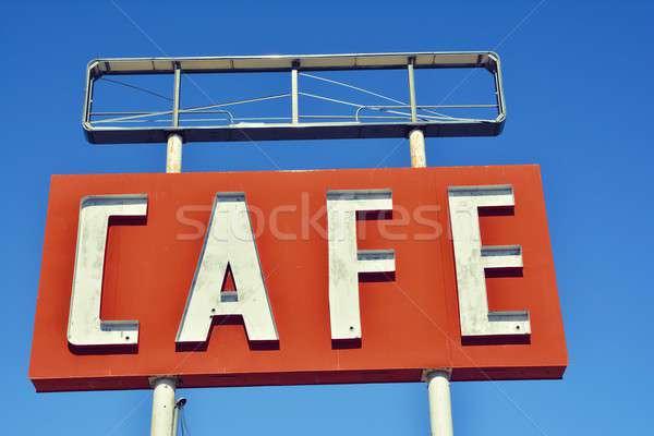 кафе знак Техас исторический route 66 небе Сток-фото © asturianu