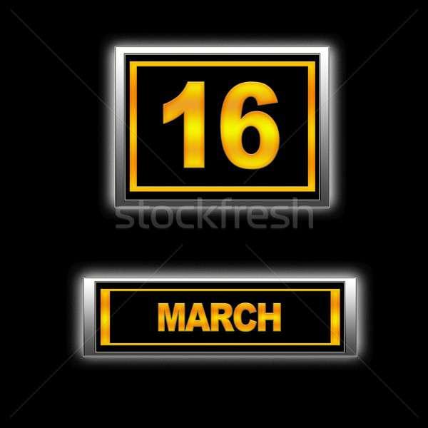 16 ilustracja kalendarza edukacji czarny plan Zdjęcia stock © asturianu