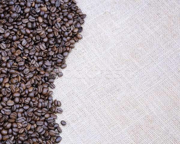 Grains de café toile de jute sac magasin magasin bean Photo stock © asturianu