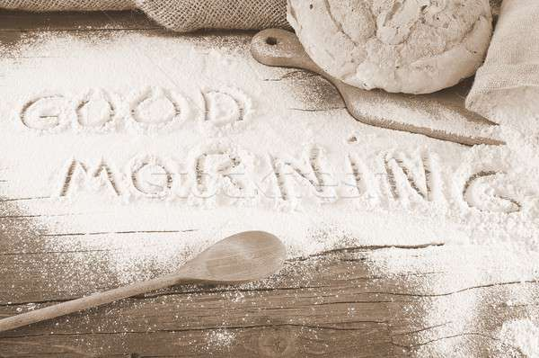 Goedemorgen meel tabel bakkerij natuur Stockfoto © asturianu