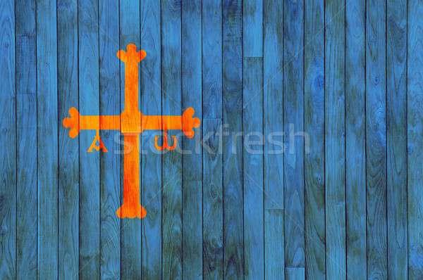 Asturias Wooden background. Stock photo © asturianu