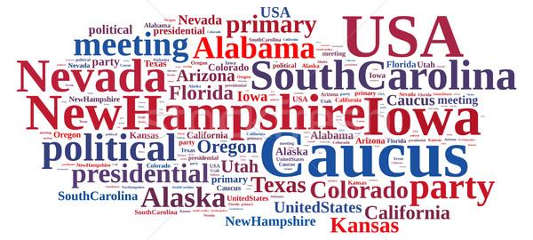 Nuvem da palavra ilustração festa votar eleição Alabama Foto stock © asturianu