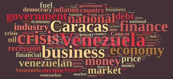 Illustratie woordwolk Venezuela business achtergrond industrie Stockfoto © asturianu
