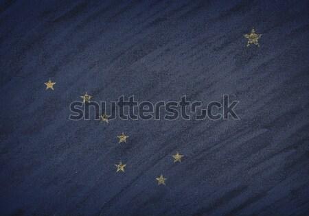 Аляска флаг окрашенный мелом доске Сток-фото © asturianu