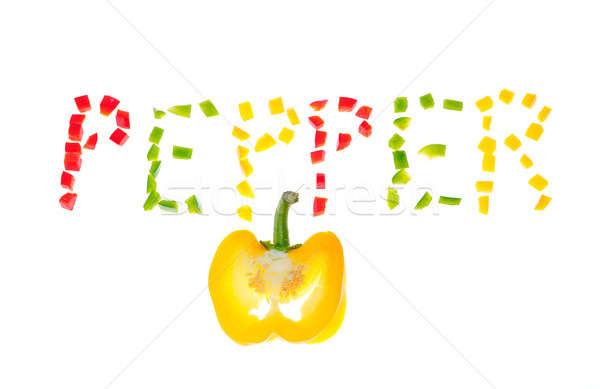 Yellow pepper. Stock photo © asturianu