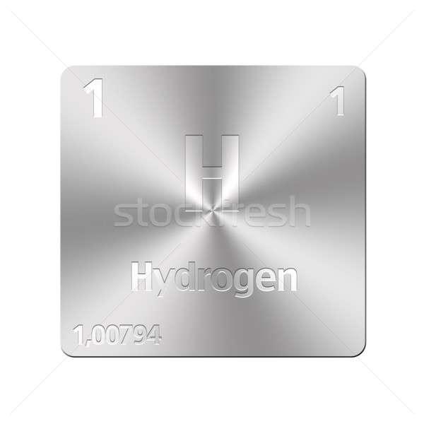 Hidrojen yalıtılmış Metal düğme eğitim Stok fotoğraf © asturianu