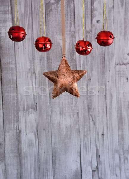 Рождества украшение звездой красный Сток-фото © asturianu