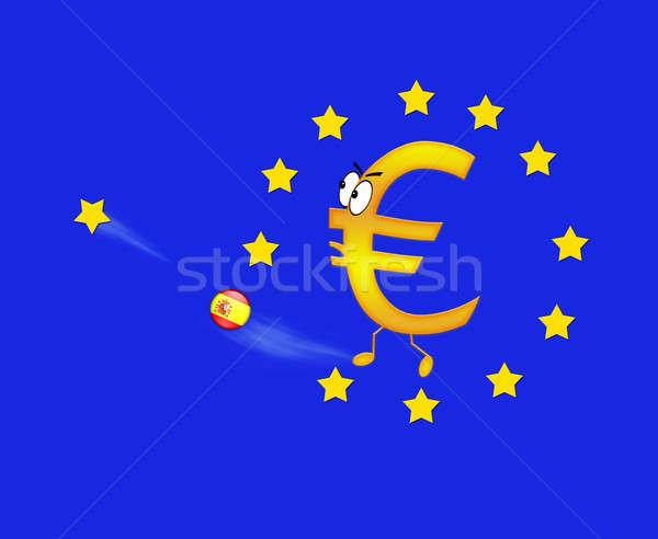 Euro and Spain. Stock photo © asturianu