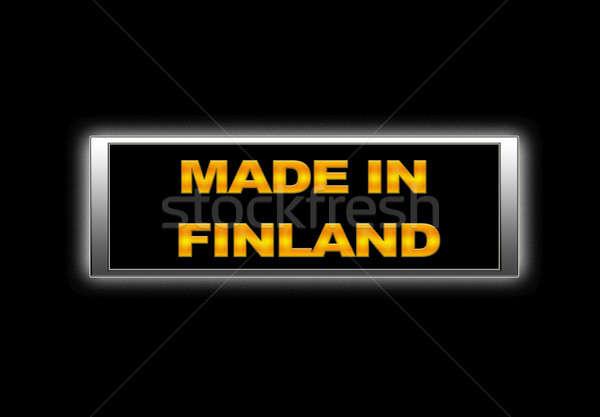 Finlandia podpisania działalności projektu fabryki Zdjęcia stock © asturianu