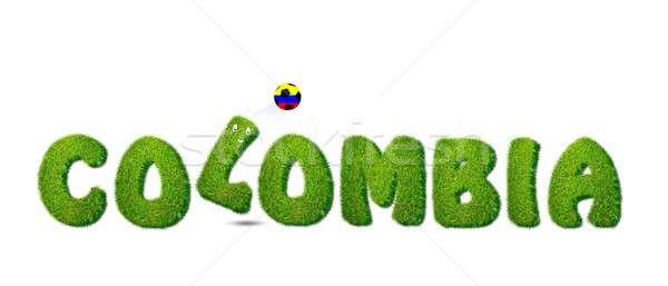 Colombia futball illusztráció fehér sport terv Stock fotó © asturianu