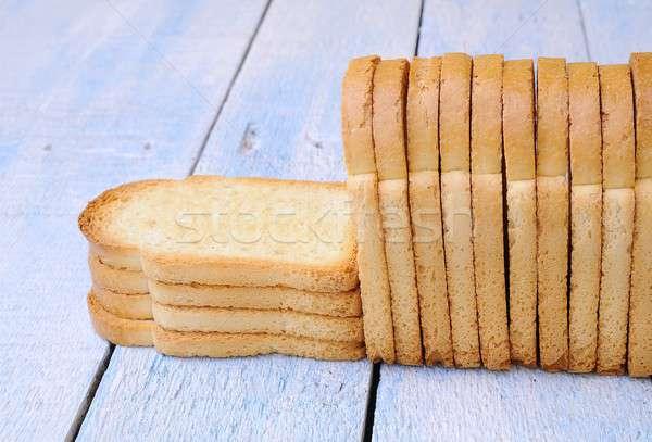 焼いた パン 青 台所用テーブル 食品 小麦 ストックフォト © asturianu