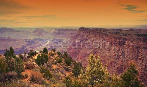 南 リム グランドキャニオン アリゾナ州 日没 自然 ストックフォト © asturianu