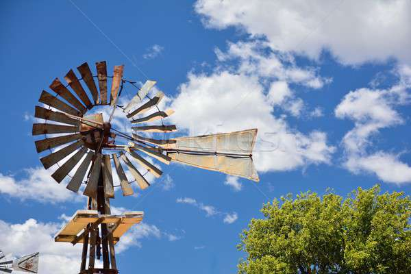 Windmill on an agricultural farm in USA. Stock photo © asturianu