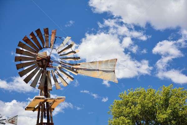 Wiatrak rolniczy gospodarstwa USA Oklahoma niebo Zdjęcia stock © asturianu