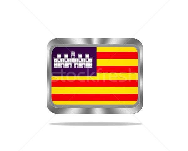 Metal Baleares flag. Stock photo © asturianu