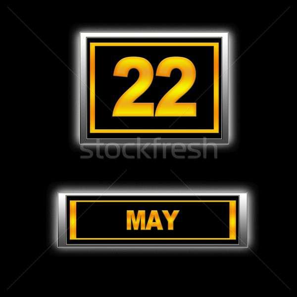 22 ilustração calendário educação preto férias Foto stock © asturianu