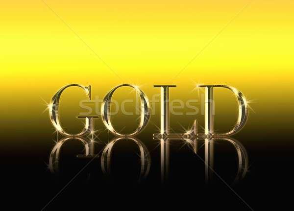 Goud illustratie woord geschreven gouden textuur Stockfoto © asturianu