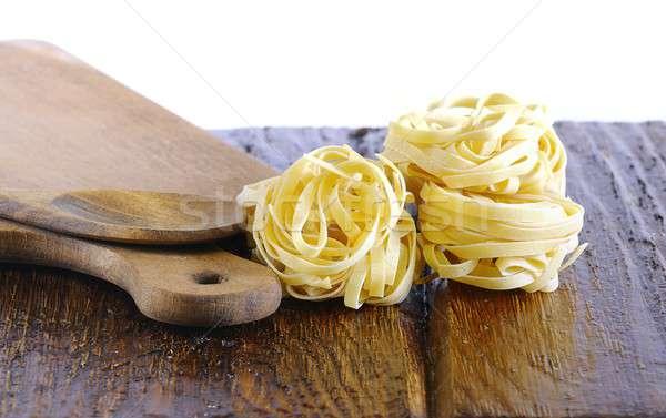 タリアテーレ 台所用テーブル 白 パスタ 料理 調理 ストックフォト © asturianu